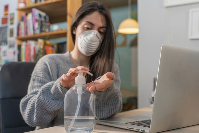 student on quarantine